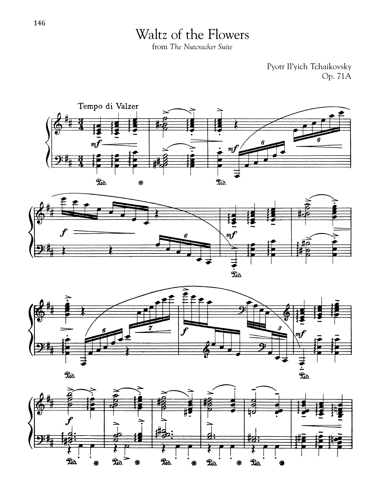 Waltz Of The Flowers, Op. 71a (Piano Solo)