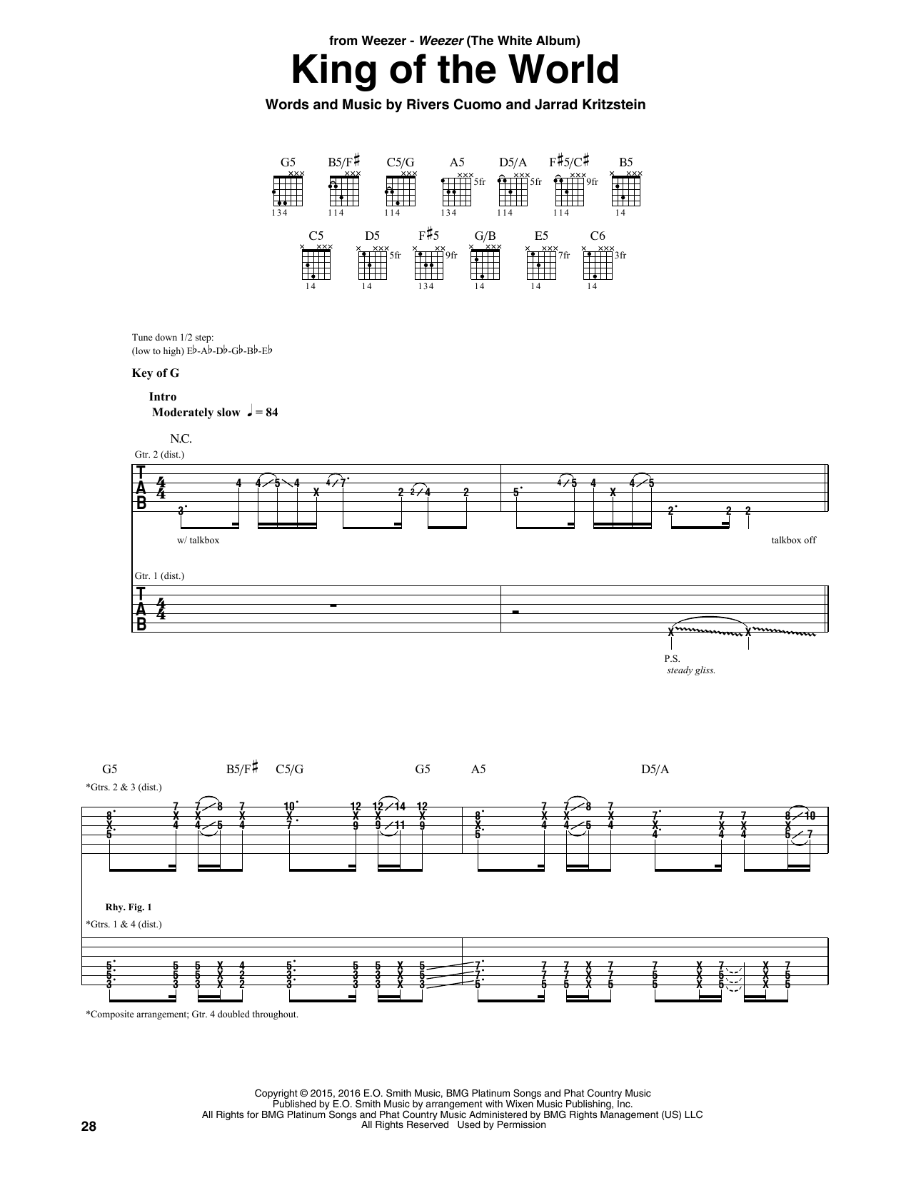 King Of The World (Guitar Rhythm Tab)