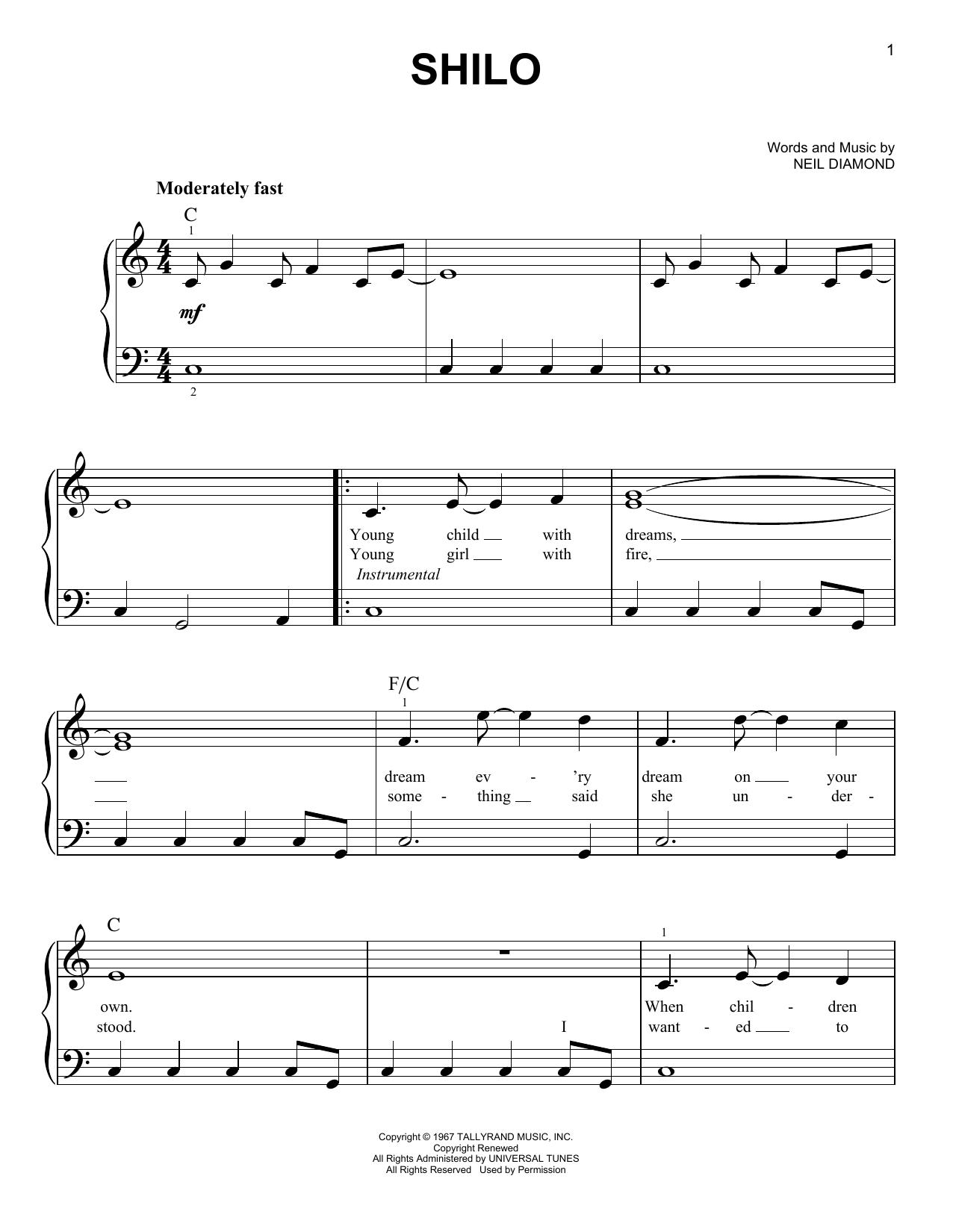Shilo (Easy Piano)