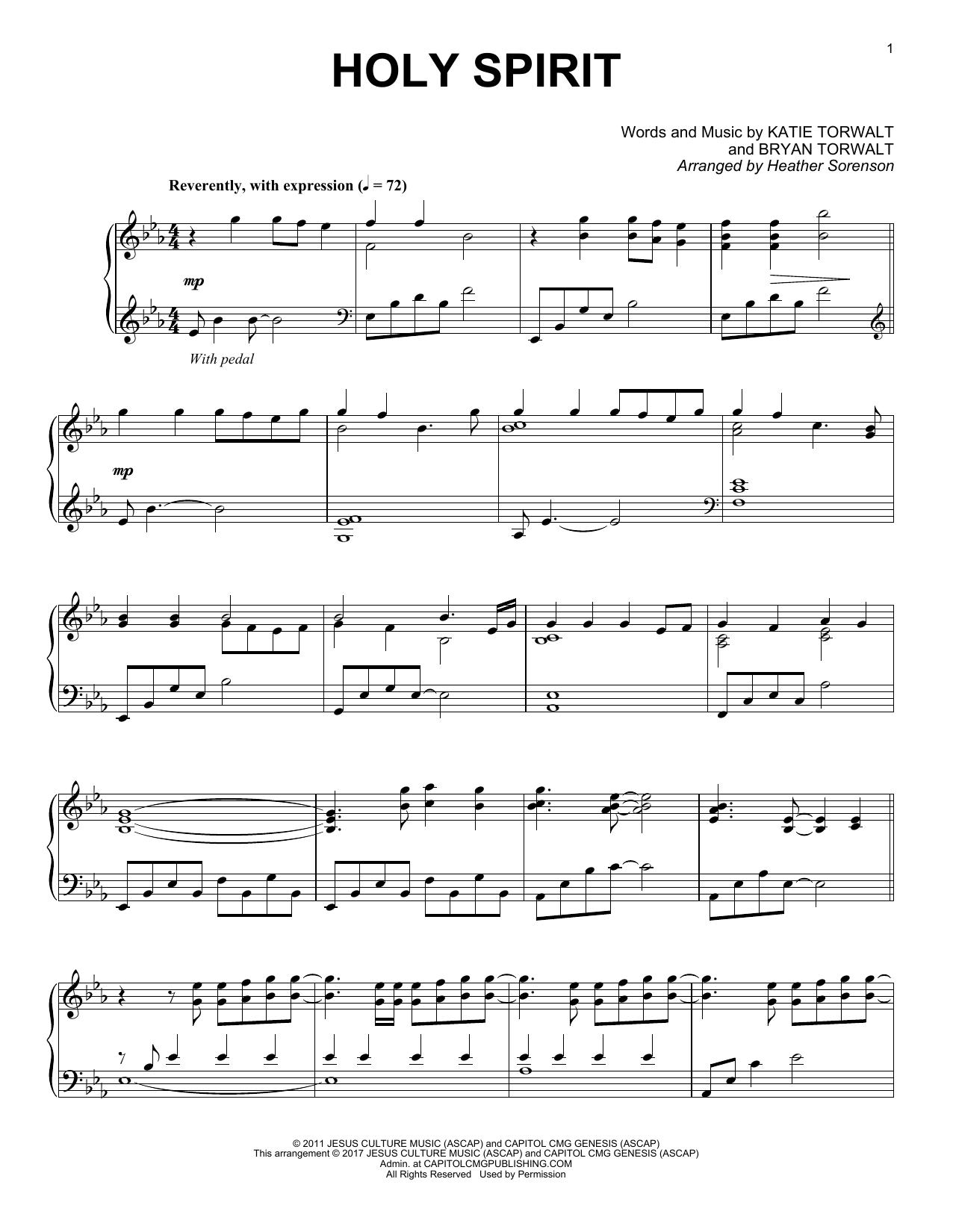 Holy Spirit (Piano Solo)