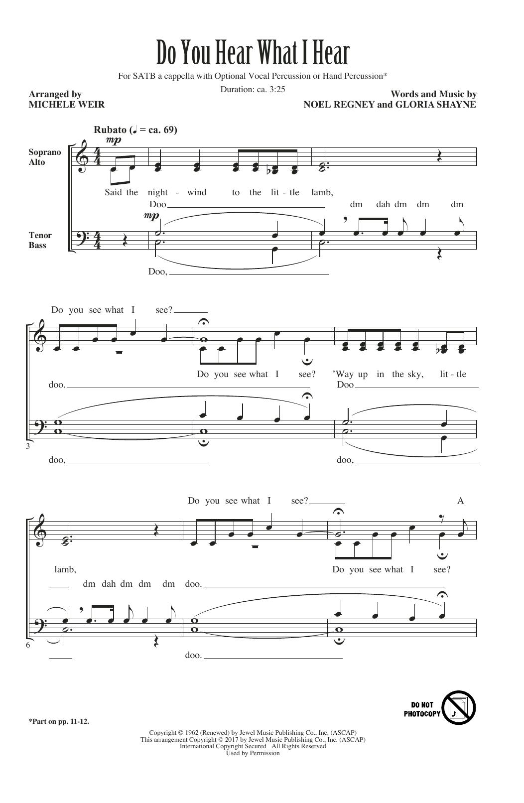 Do You Hear What I Hear (SATB Choir)