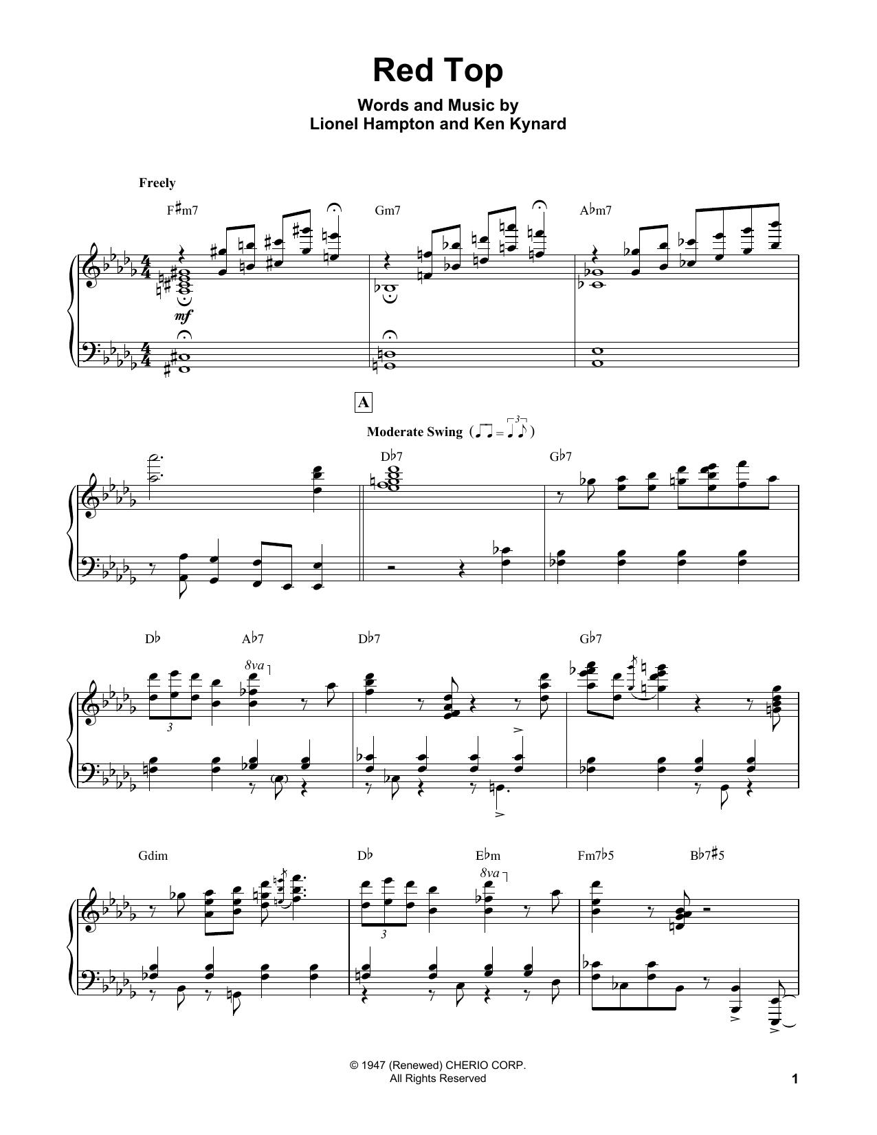 Red Top (Piano Transcription)