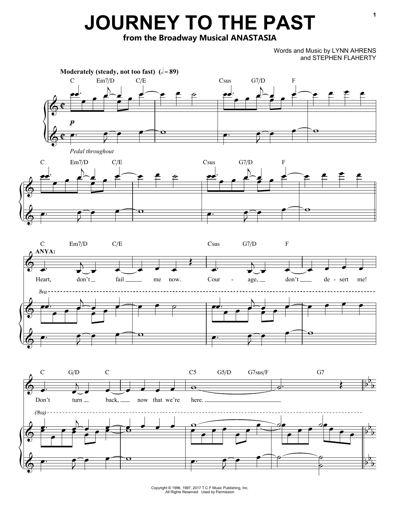 Journey To The Past (from Anastasia) (Piano & Vocal)