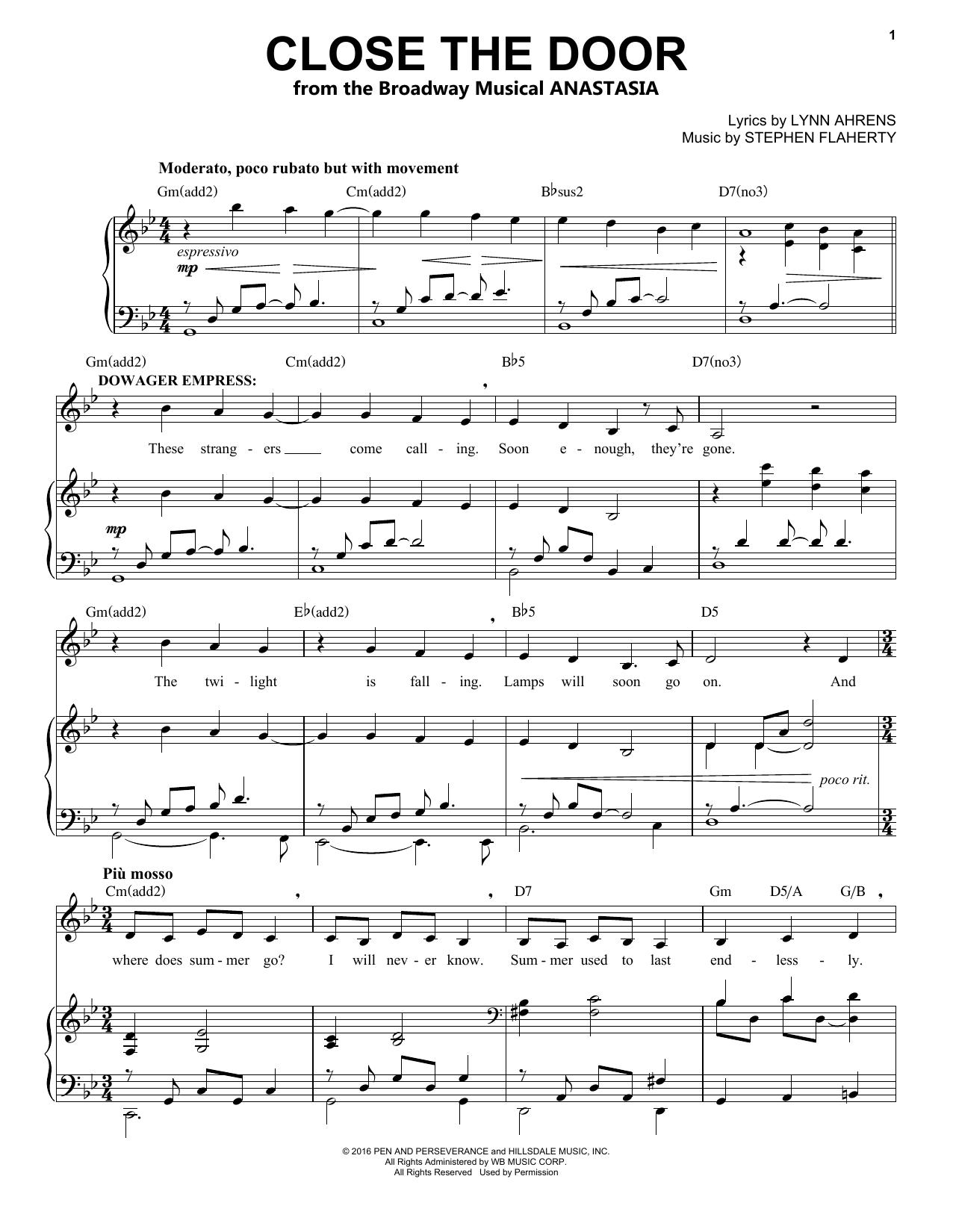 Close The Door (Piano & Vocal)