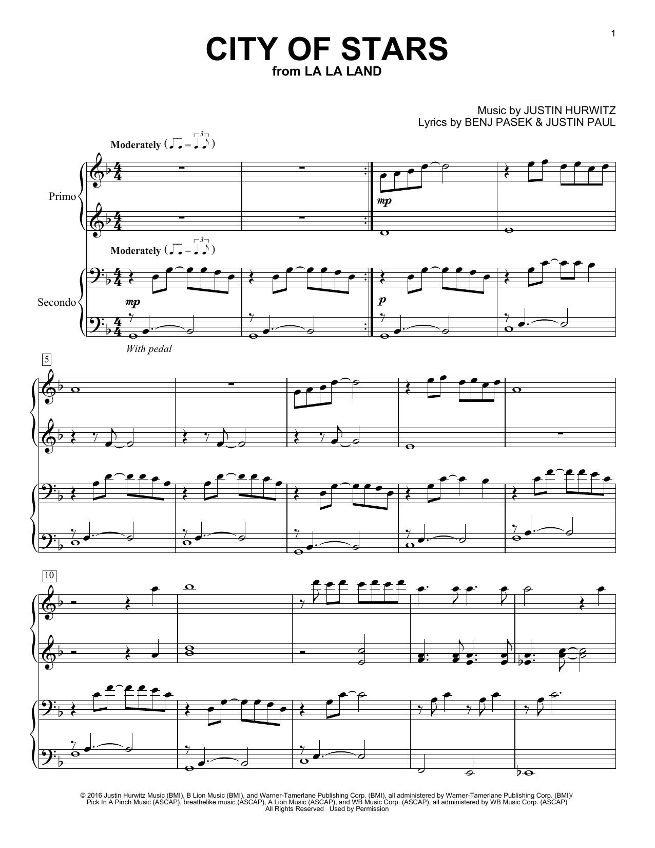 City Of Stars (from La La Land) (Piano Duet)