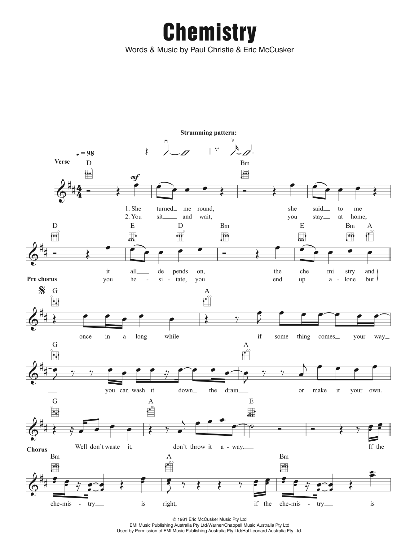 Chemistry Sheet Music