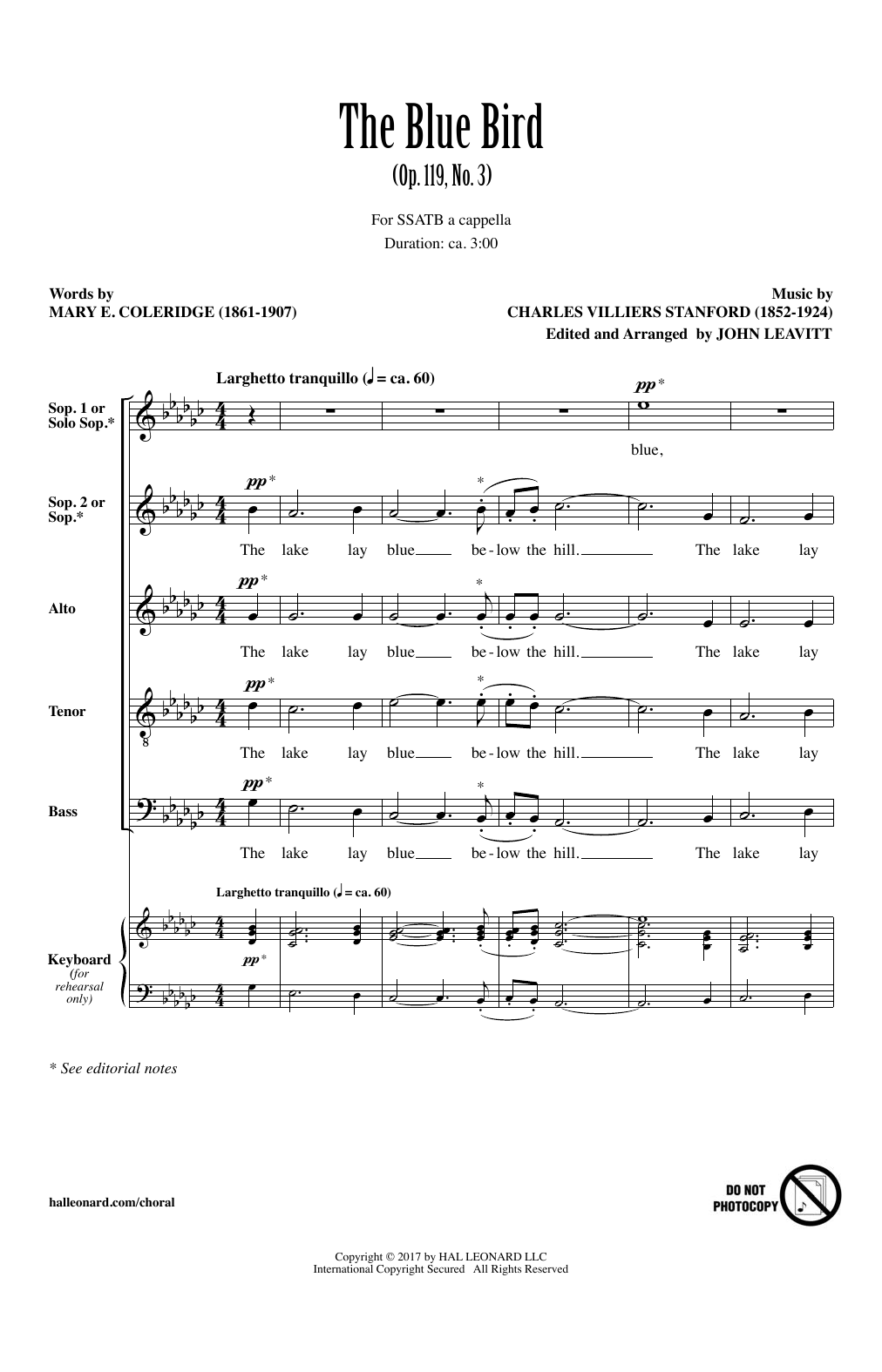The Blue Bird (SATB Choir)