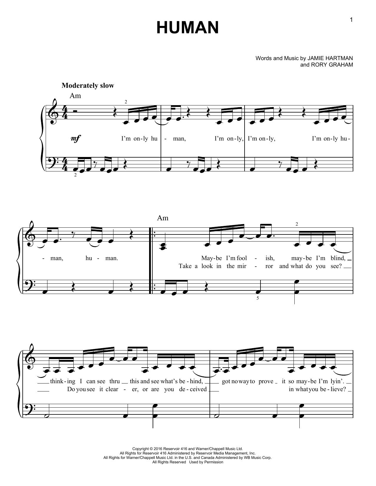 Human (Easy Piano)
