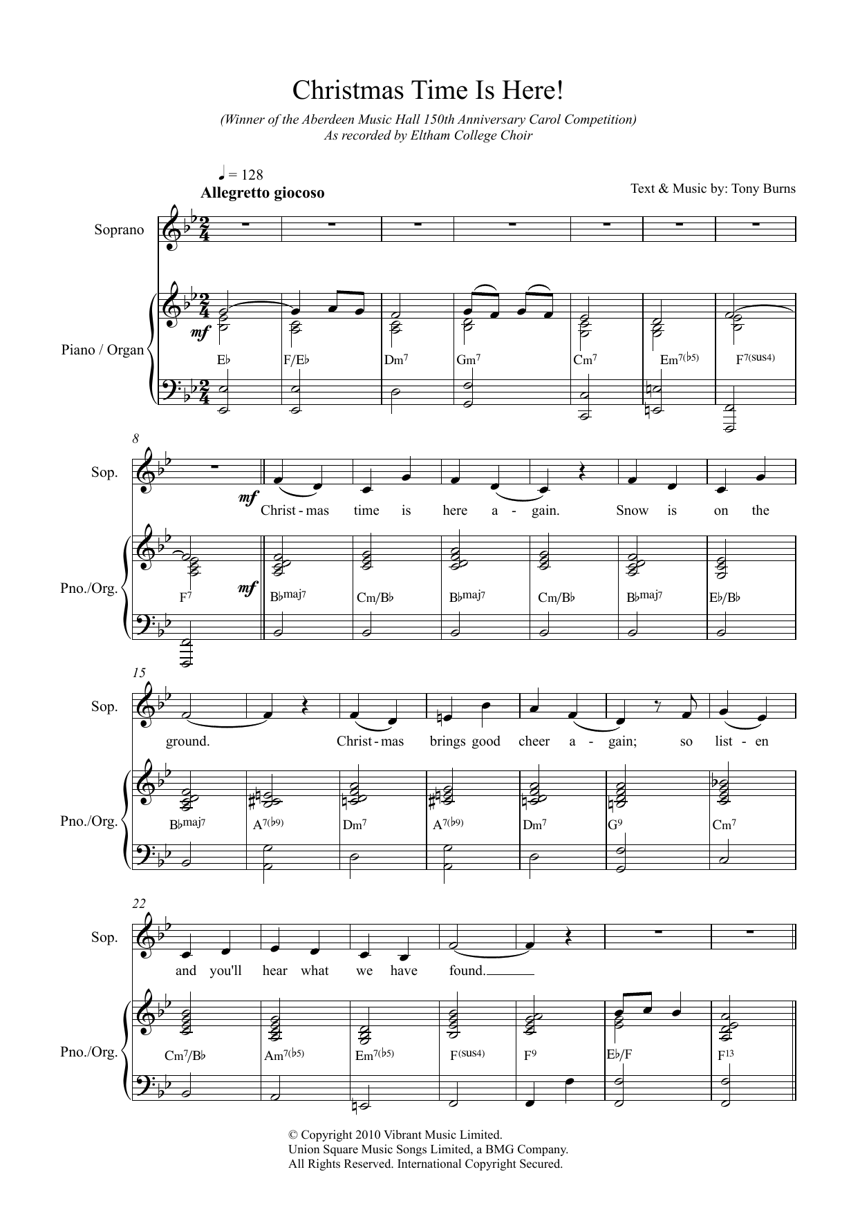 Christmas Time Is Here! Sheet Music