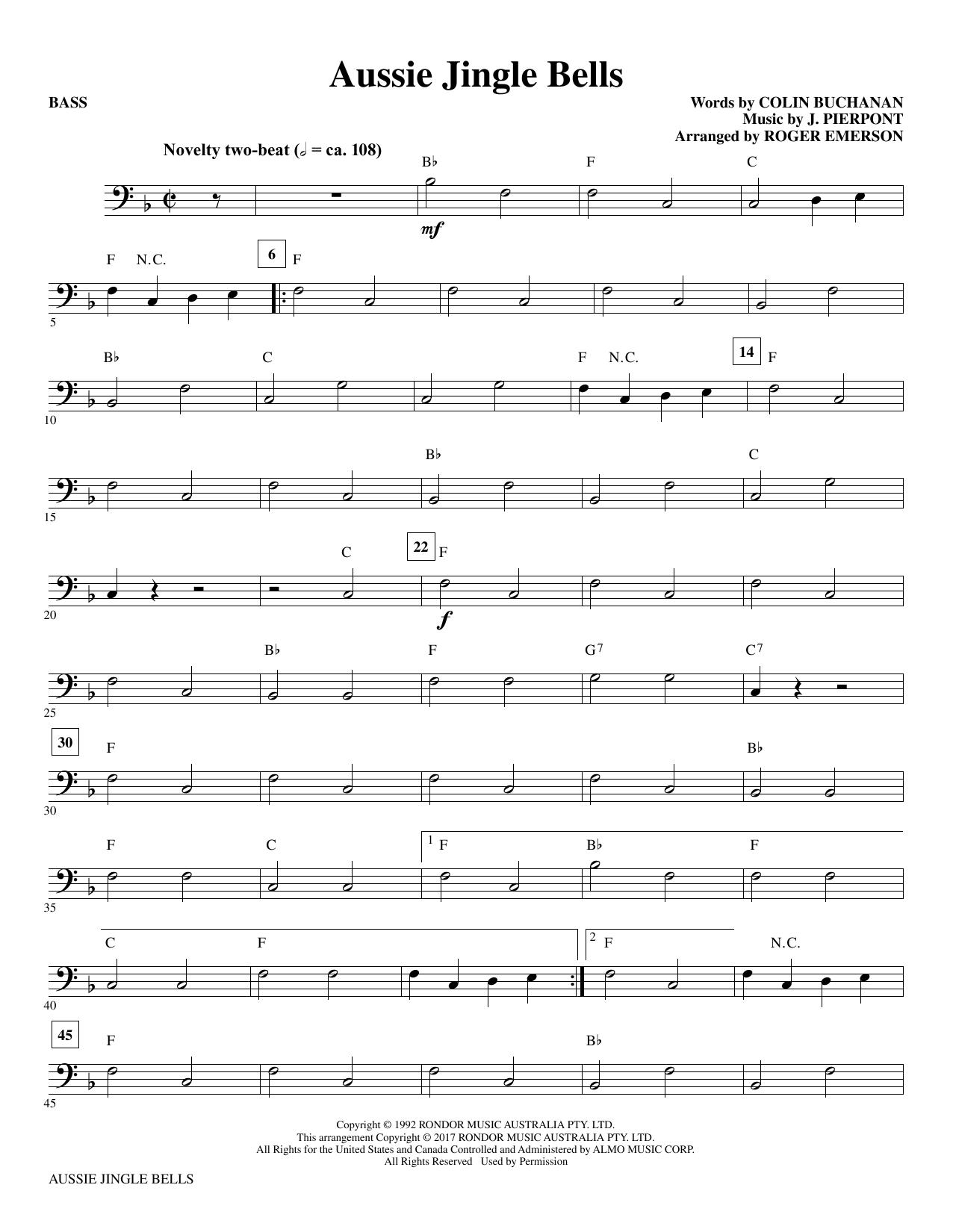 Aussie Jingle Bells - Bass Sheet Music