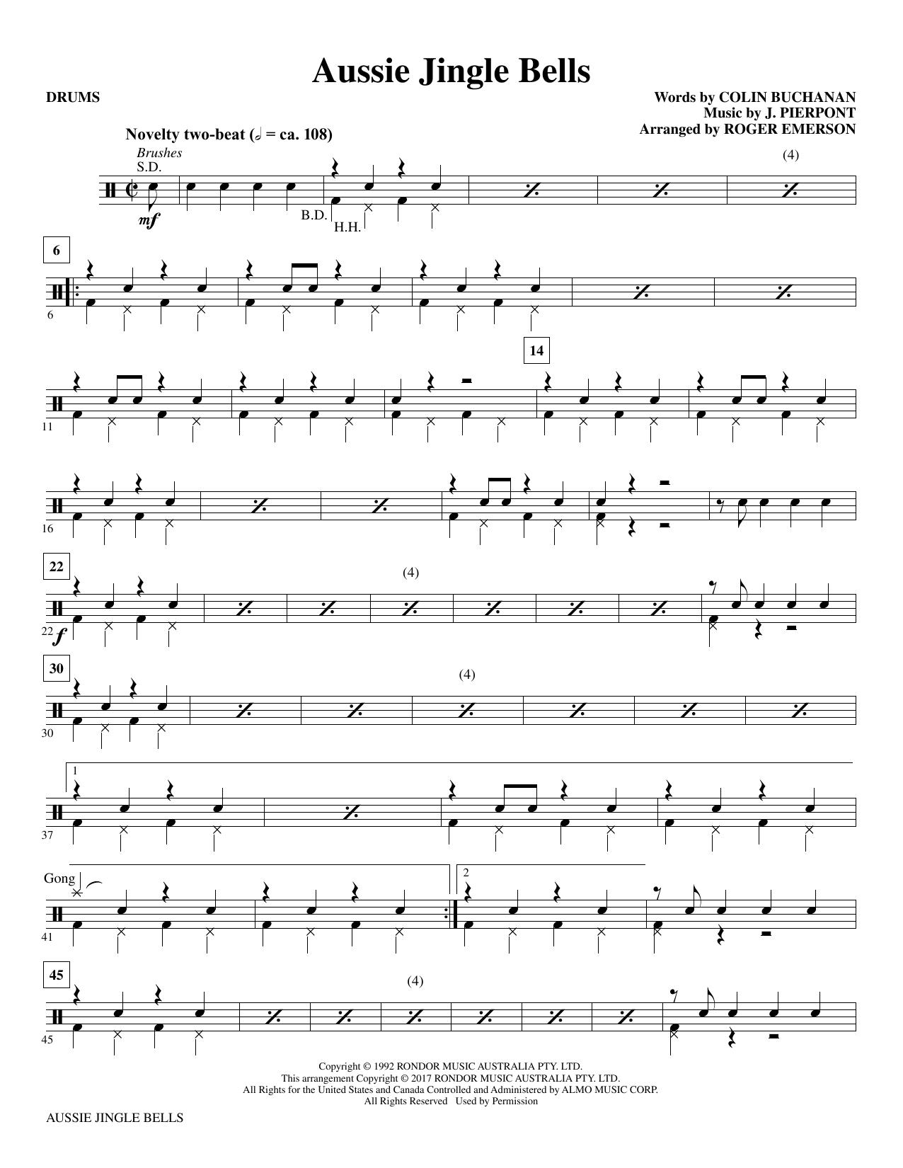 Aussie Jingle Bells - Drums Sheet Music
