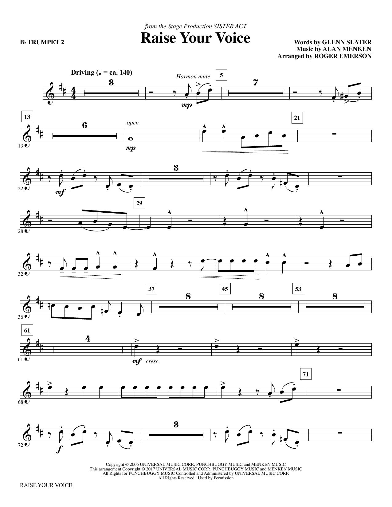 Raise Your Voice - Bb Trumpet 2 Sheet Music