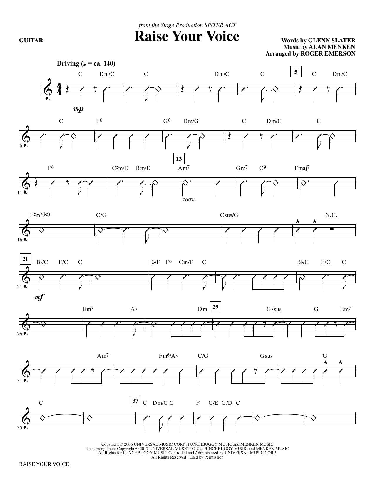 Raise Your Voice - Guitar Sheet Music