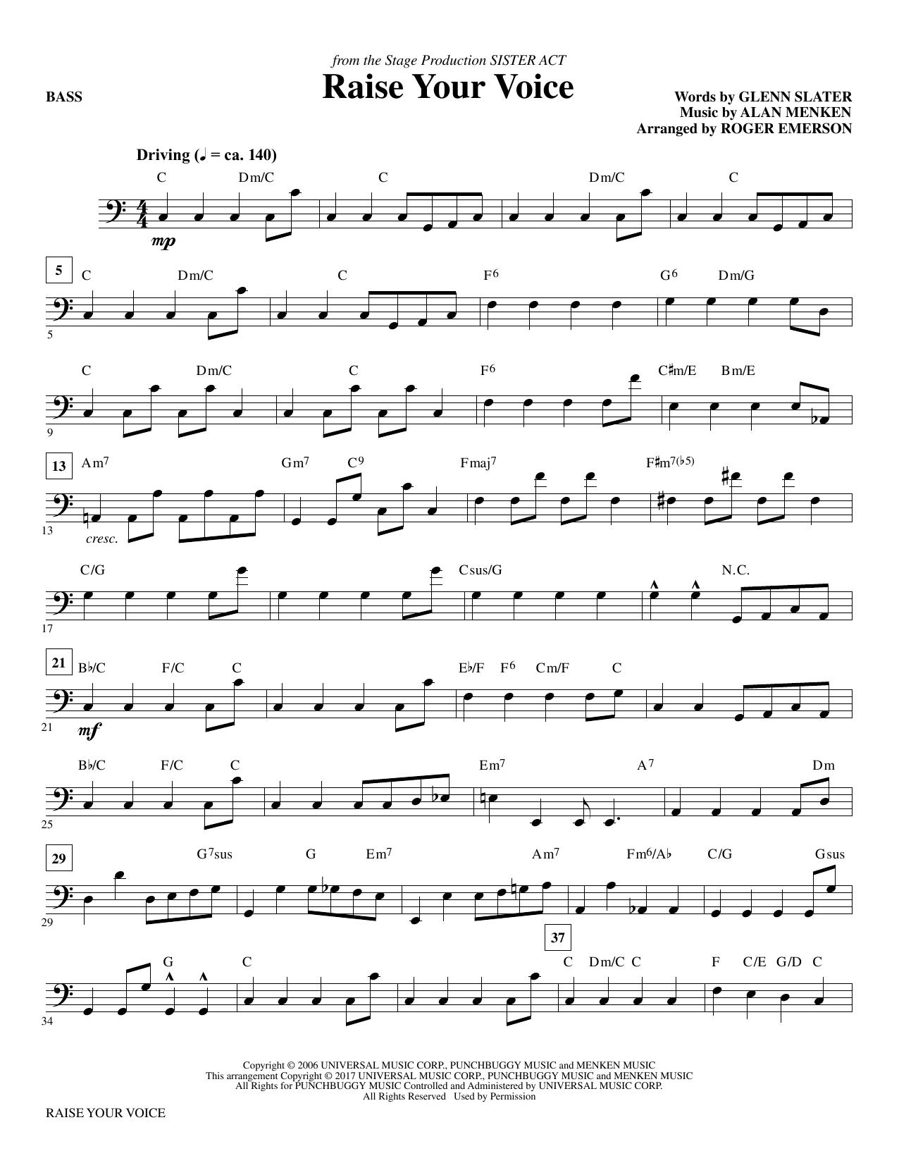 Raise Your Voice - Bass Sheet Music