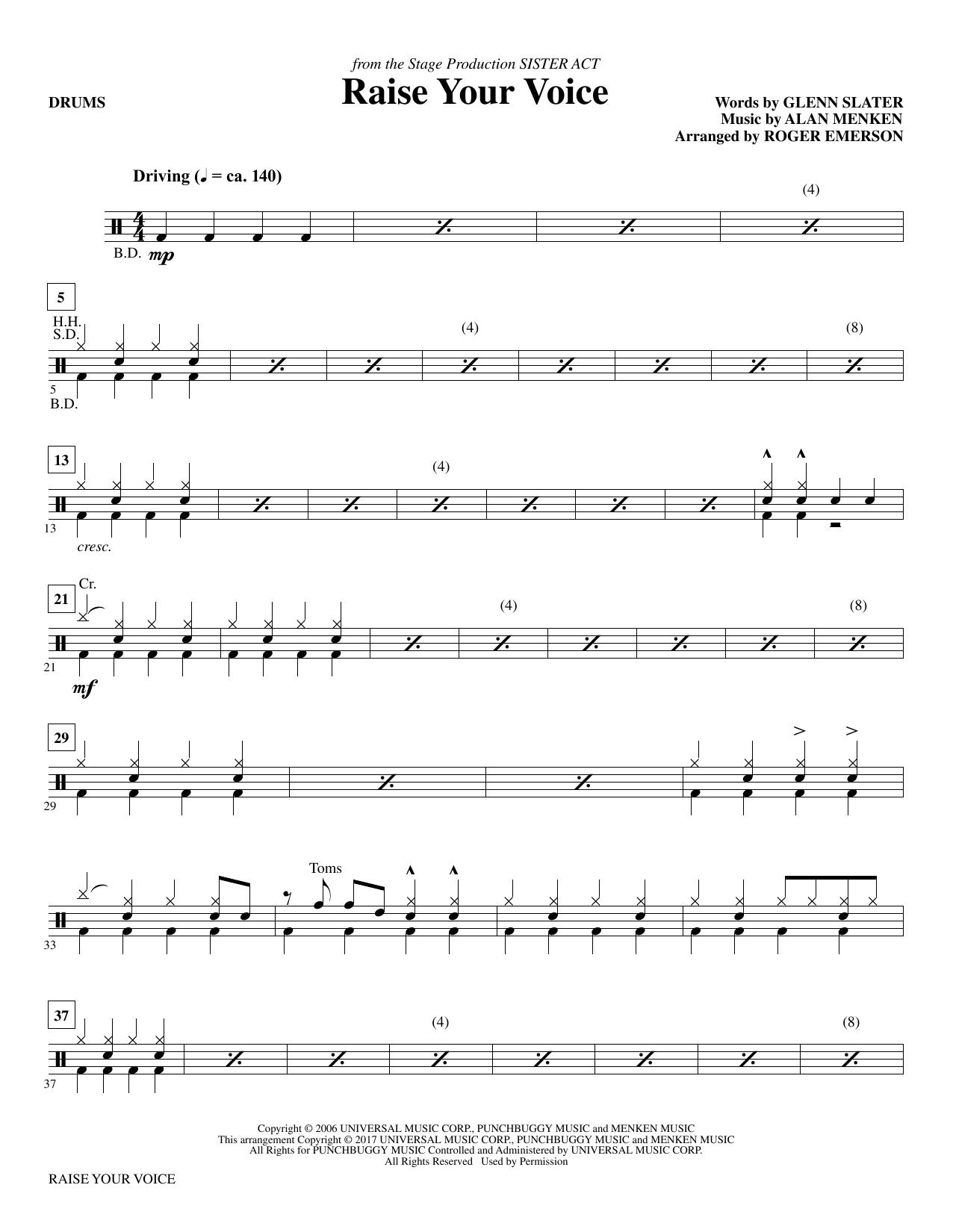 Raise Your Voice - Drums (Choir Instrumental Pak)