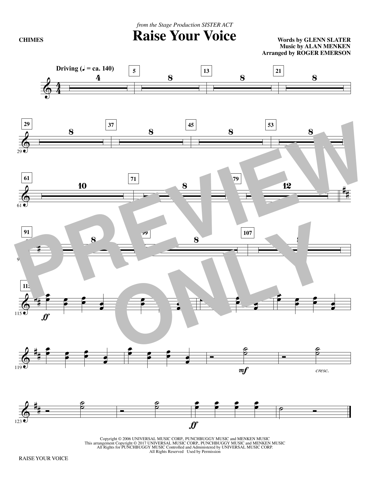 Raise Your Voice - Chimes Sheet Music