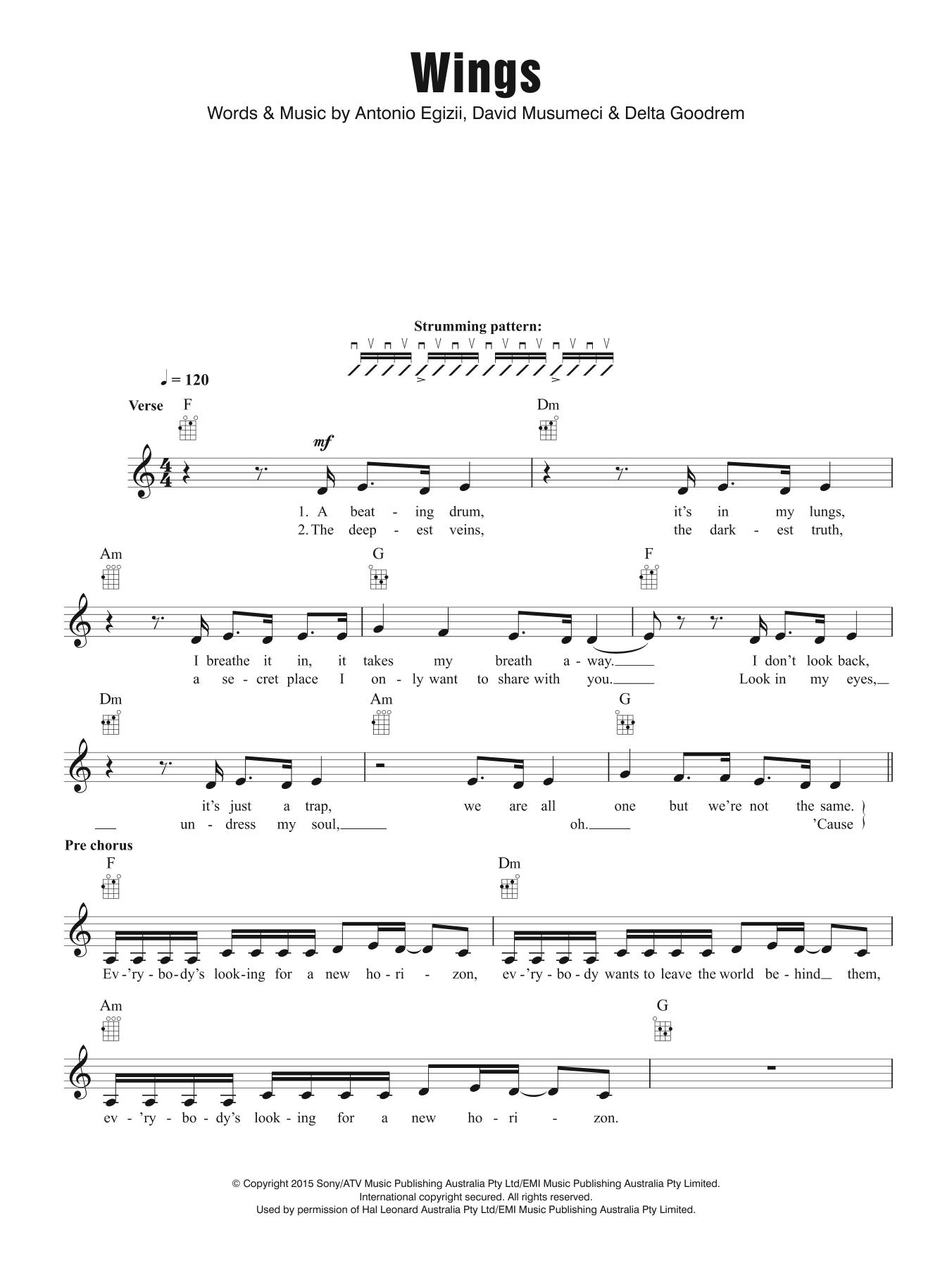 Wings Sheet Music