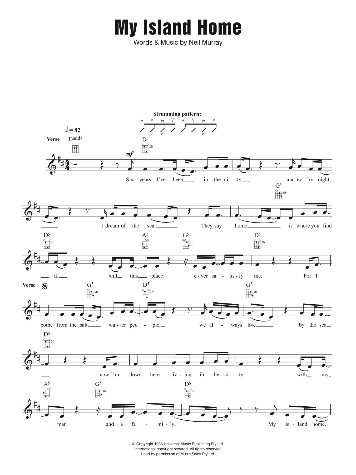 My Island Home Sheet Music