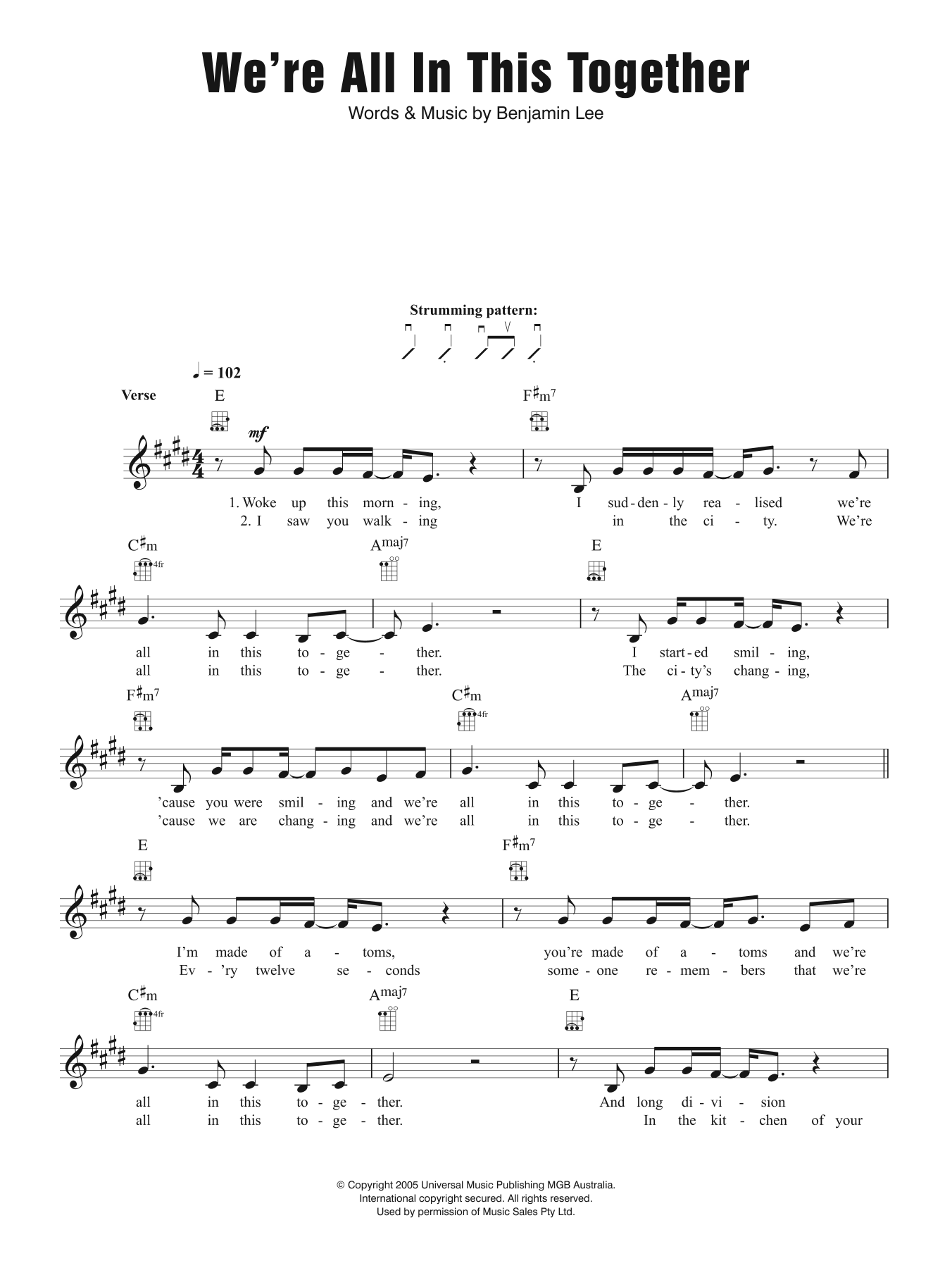 We're All In This Together Sheet Music
