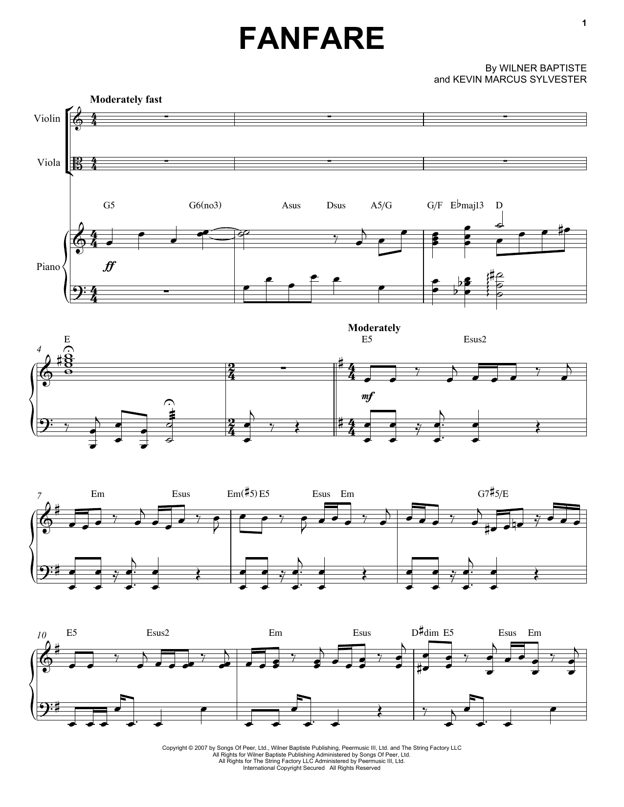 Fanfare Sheet Music