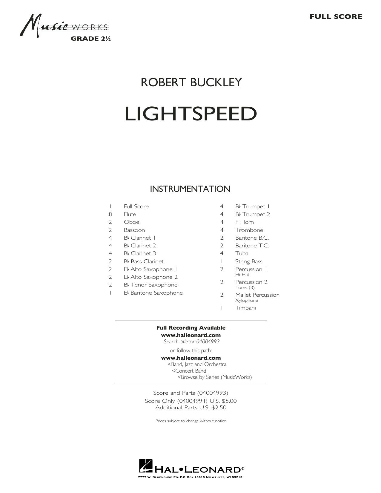 Lightspeed - Full Score Sheet Music