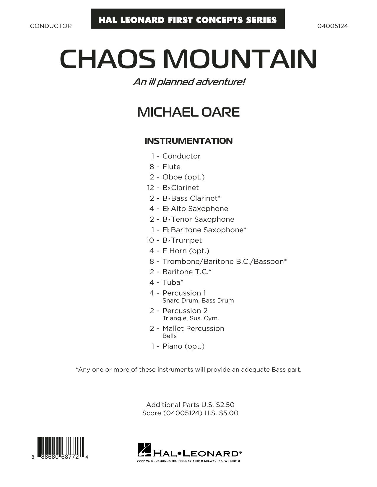 Chaos Mountain - Conductor Score (Full Score) Sheet Music