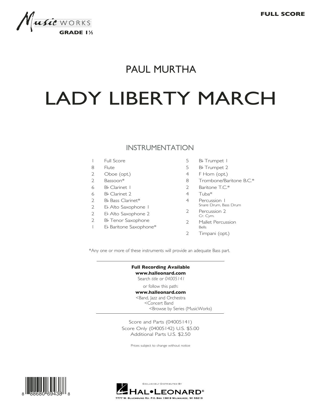 Lady Liberty March - Conductor Score (Full Score) Sheet Music