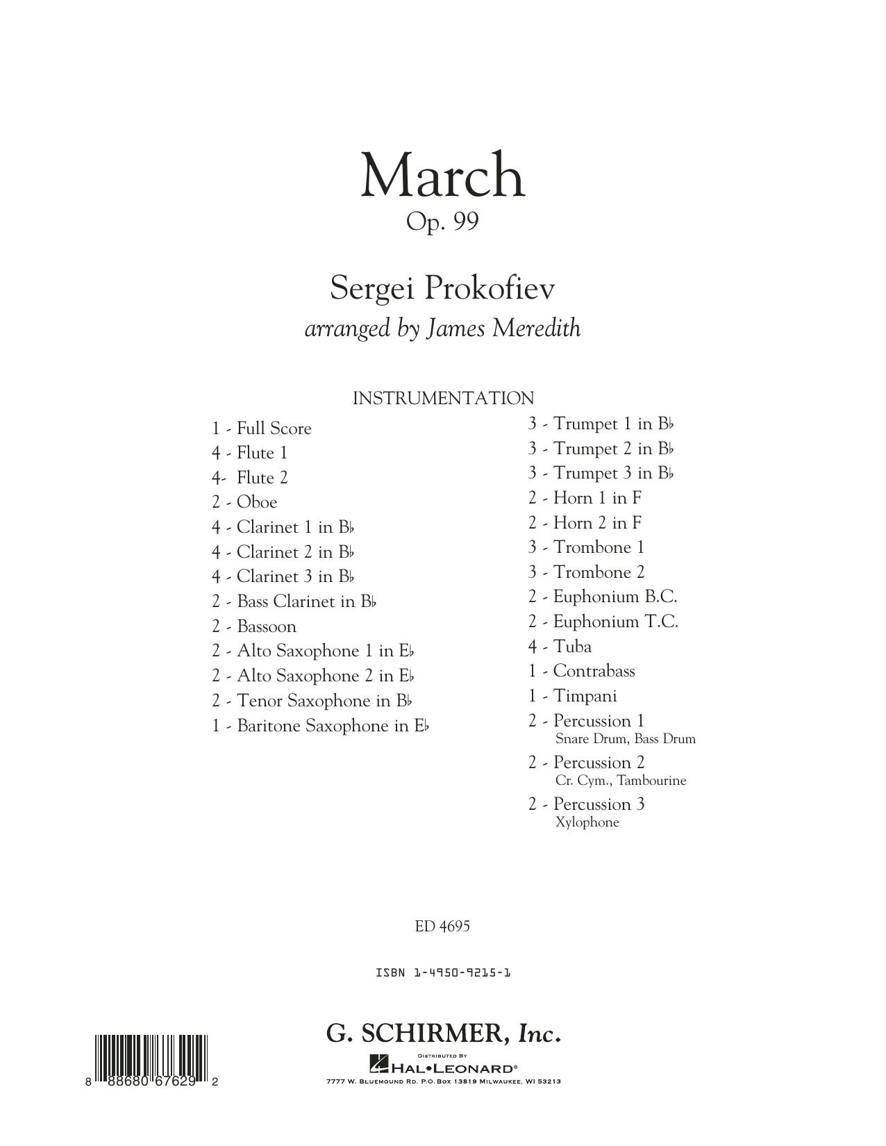 March, Op. 99 - Conductor Score (Full Score) Sheet Music