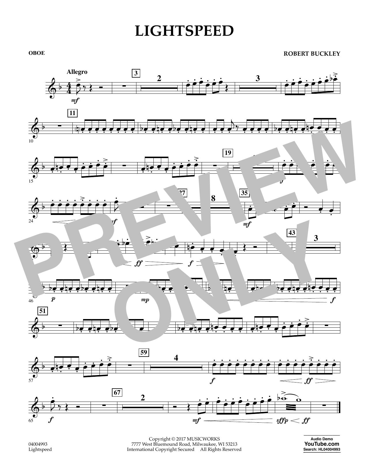 Lightspeed - Oboe Sheet Music