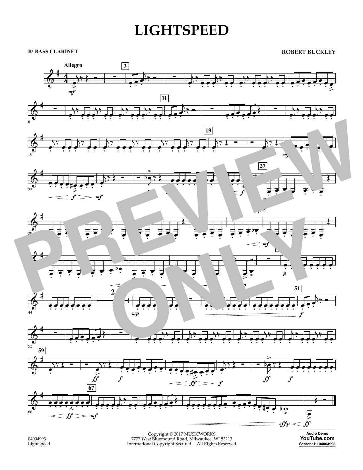Lightspeed - Bb Bass Clarinet Partituras Digitales