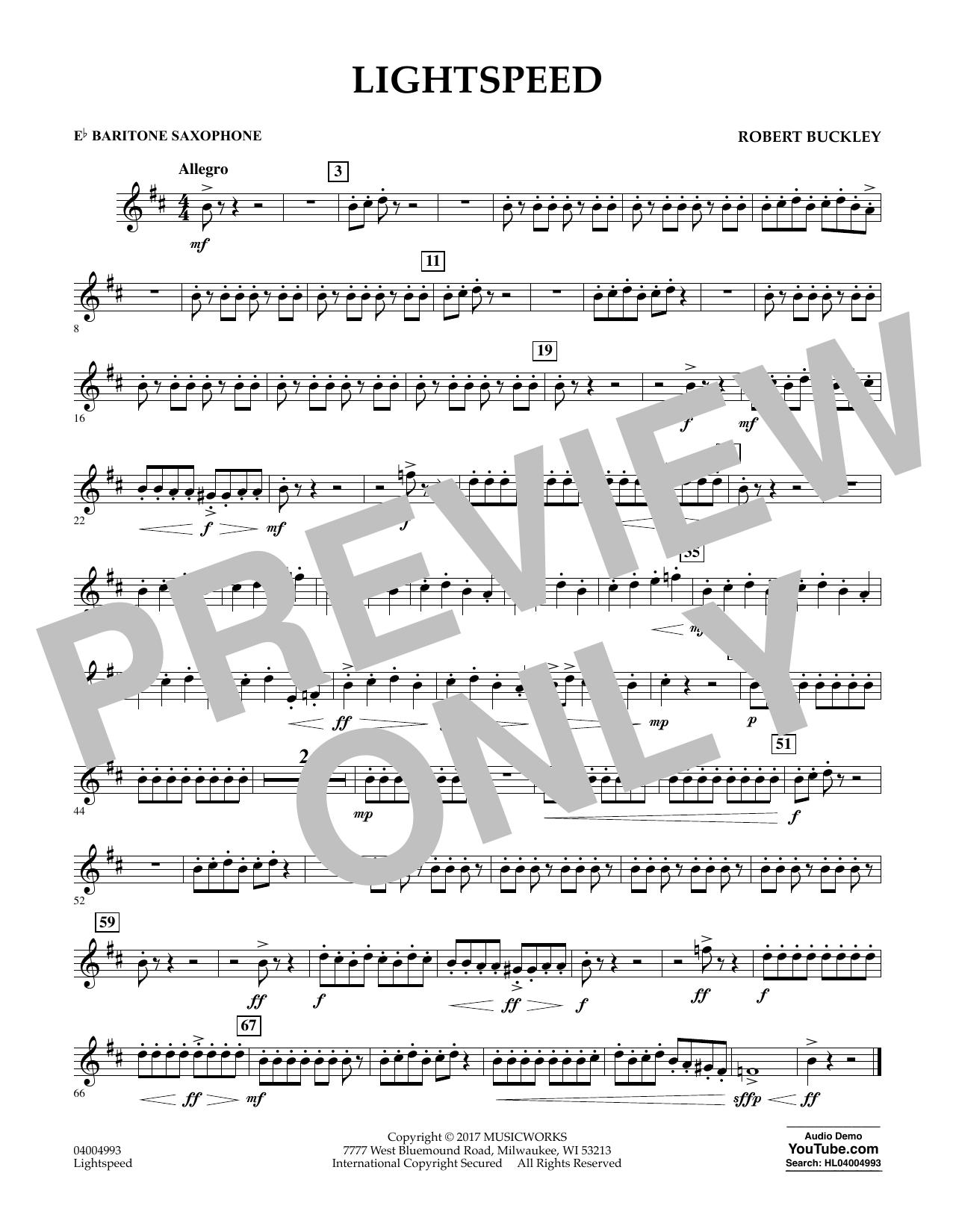 Lightspeed - Eb Baritone Saxophone Sheet Music