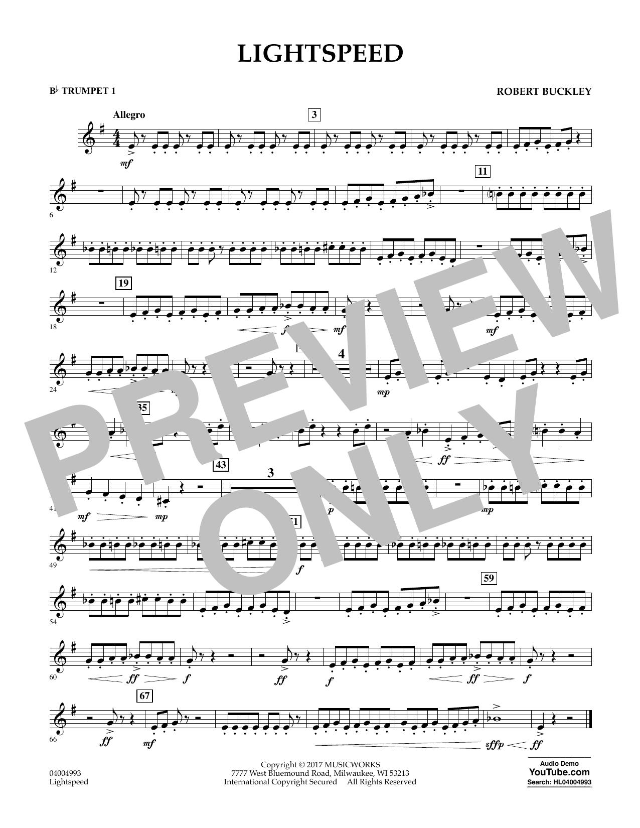 Lightspeed - Bb Trumpet 1 (Concert Band)