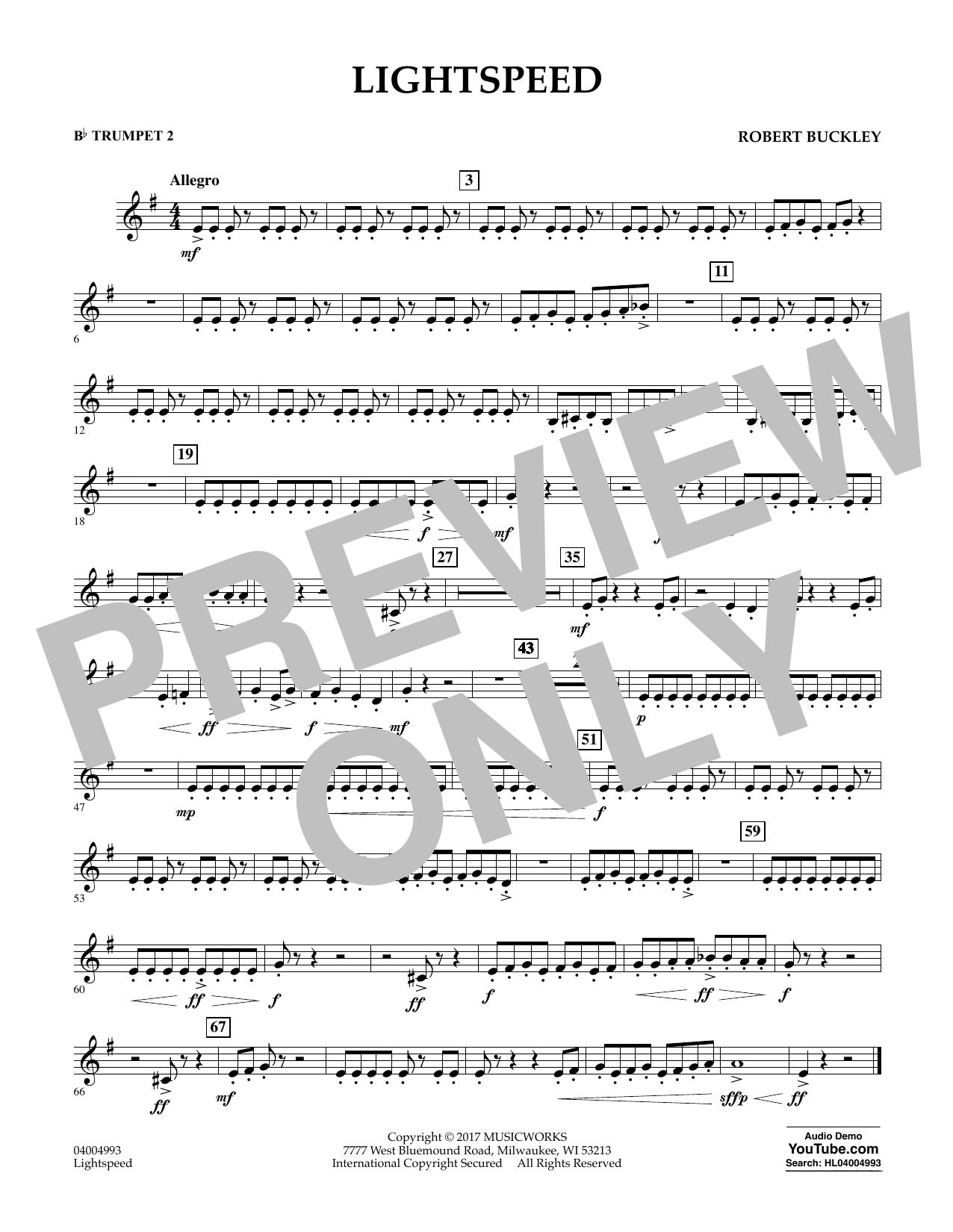 Lightspeed - Bb Trumpet 2 Sheet Music