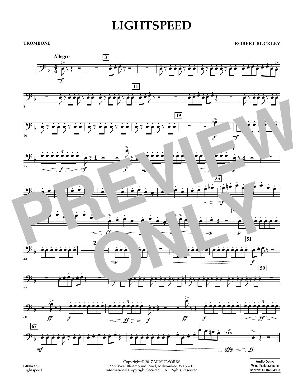 Lightspeed - Trombone Sheet Music