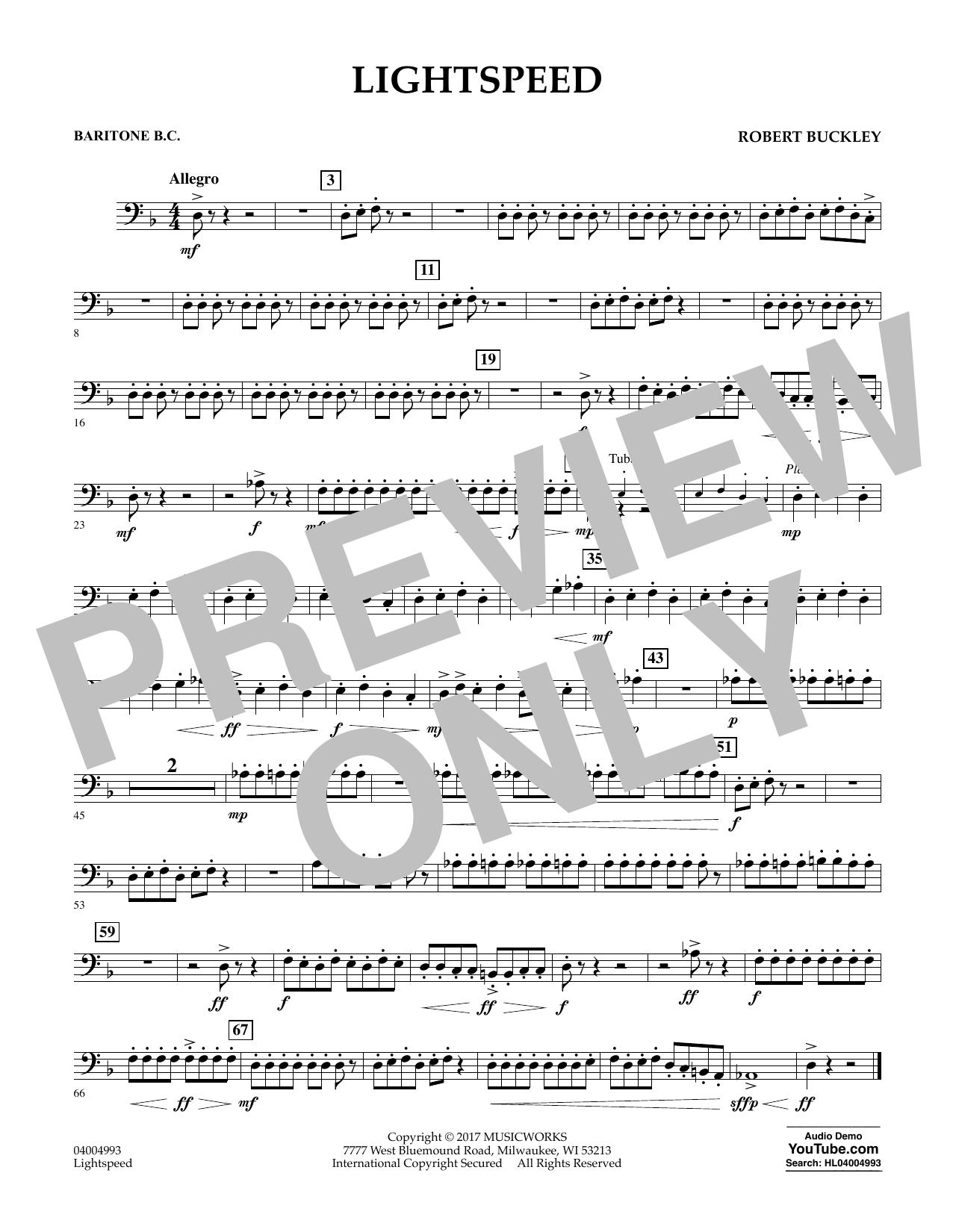Lightspeed - Baritone B.C. Sheet Music