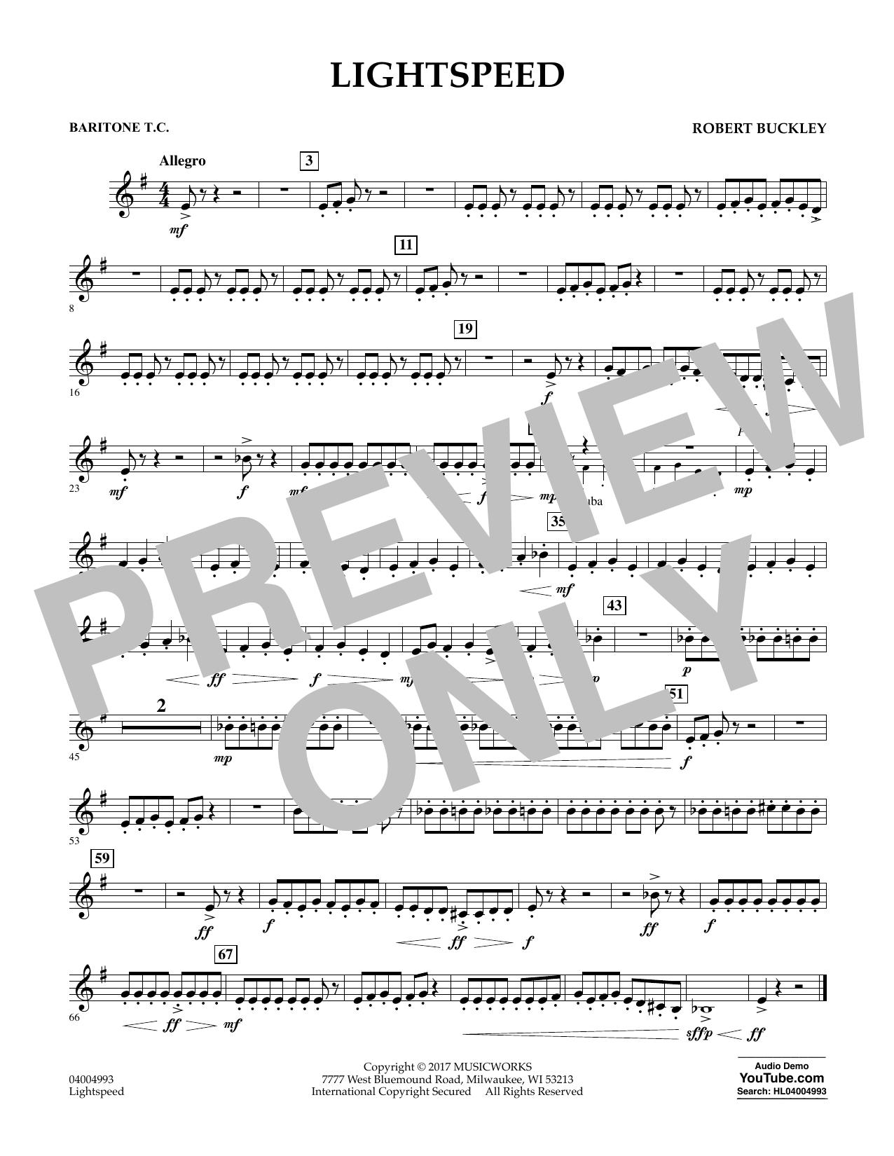 Lightspeed - Baritone T.C. (Concert Band)