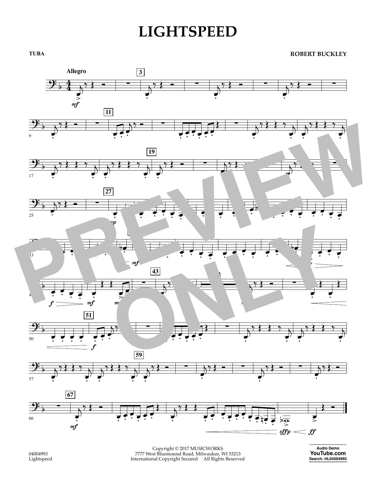 Lightspeed - Tuba Sheet Music