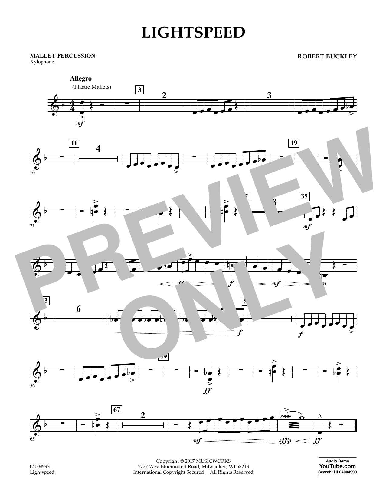 Lightspeed - Mallet Percussion Sheet Music