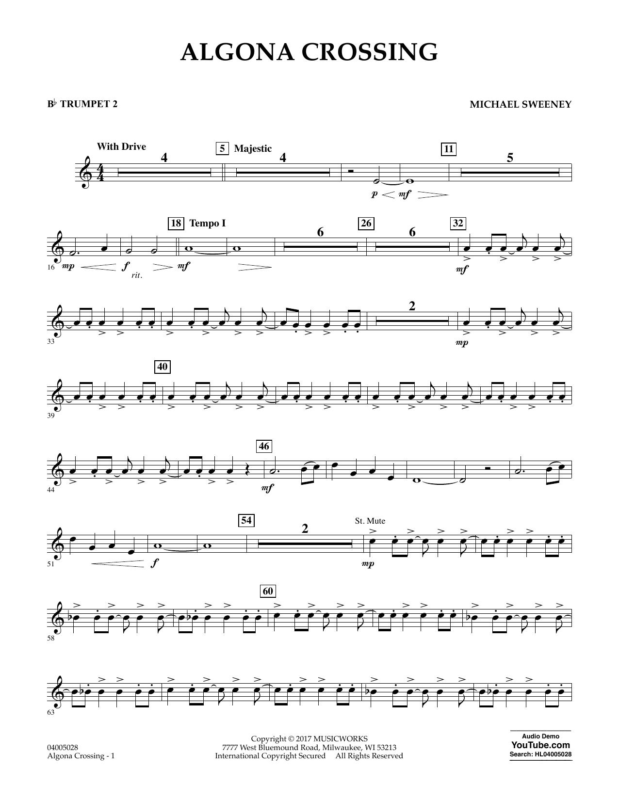 Algona Crossing - Bb Trumpet 2 Sheet Music