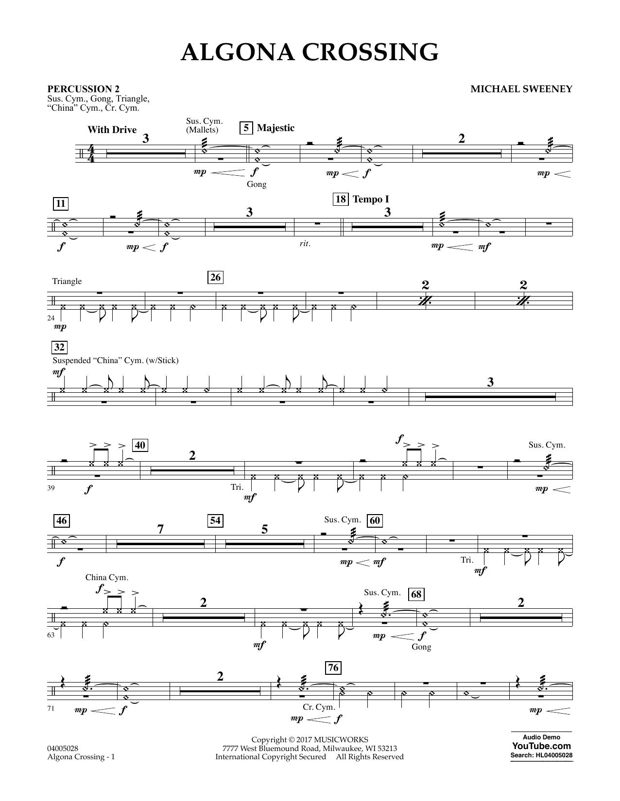 Algona Crossing - Percussion 2 (Concert Band)
