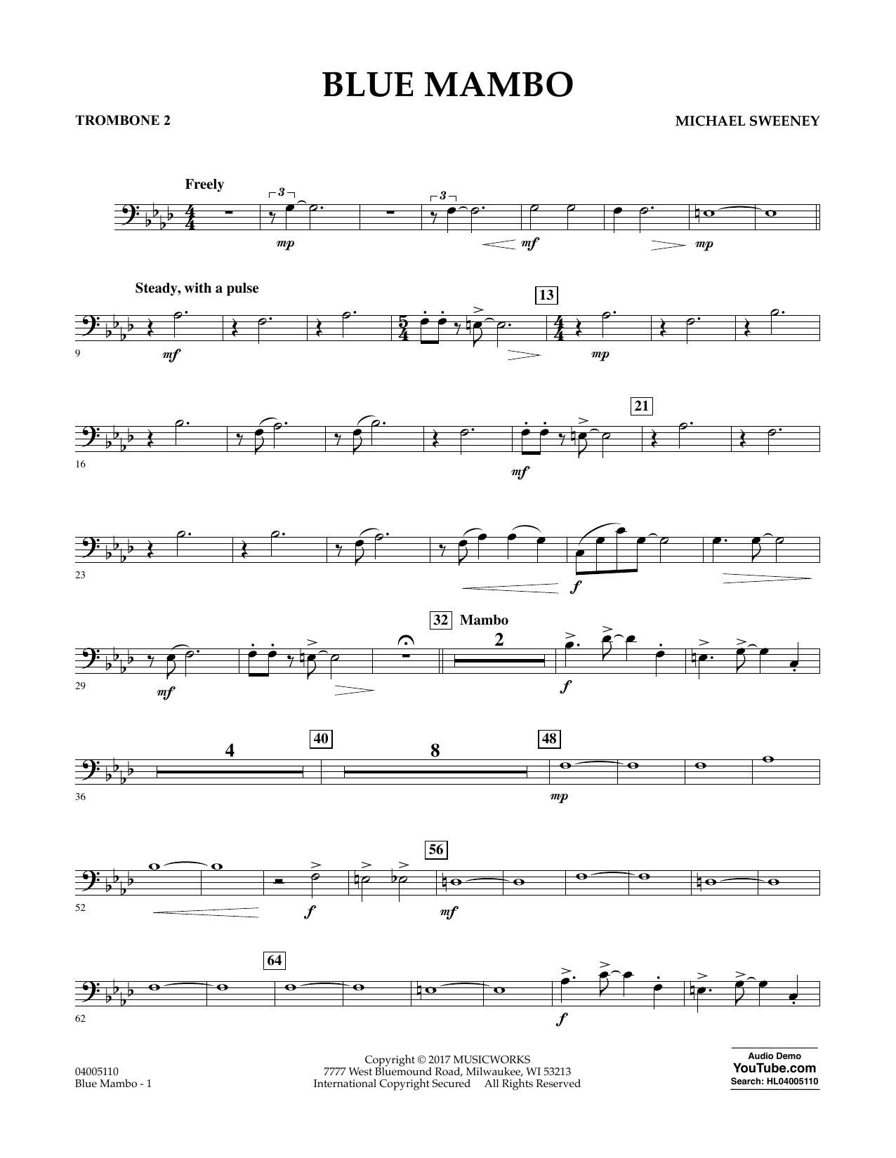 Blue Mambo - Trombone 2 Sheet Music
