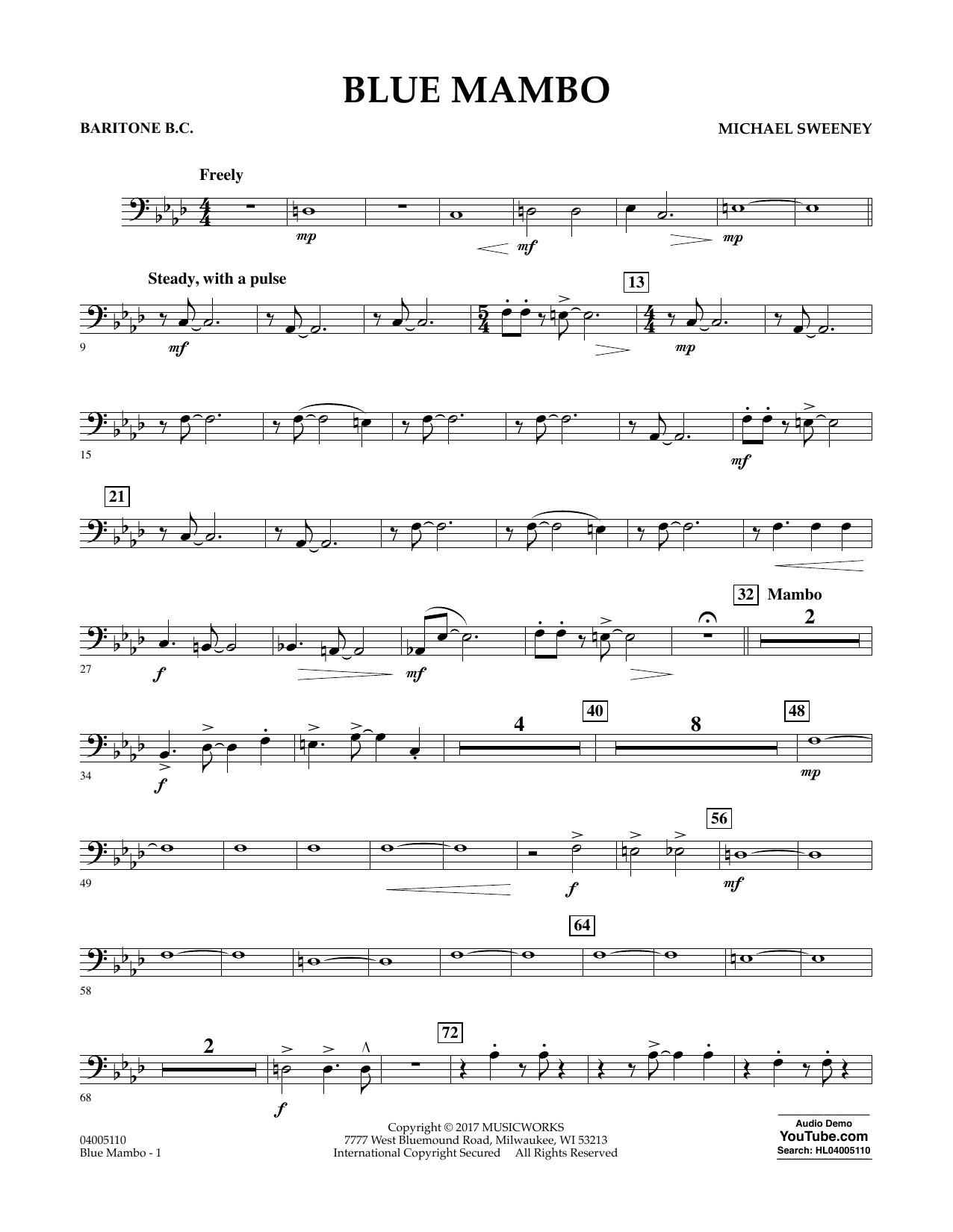 Blue Mambo - Baritone B.C. Sheet Music