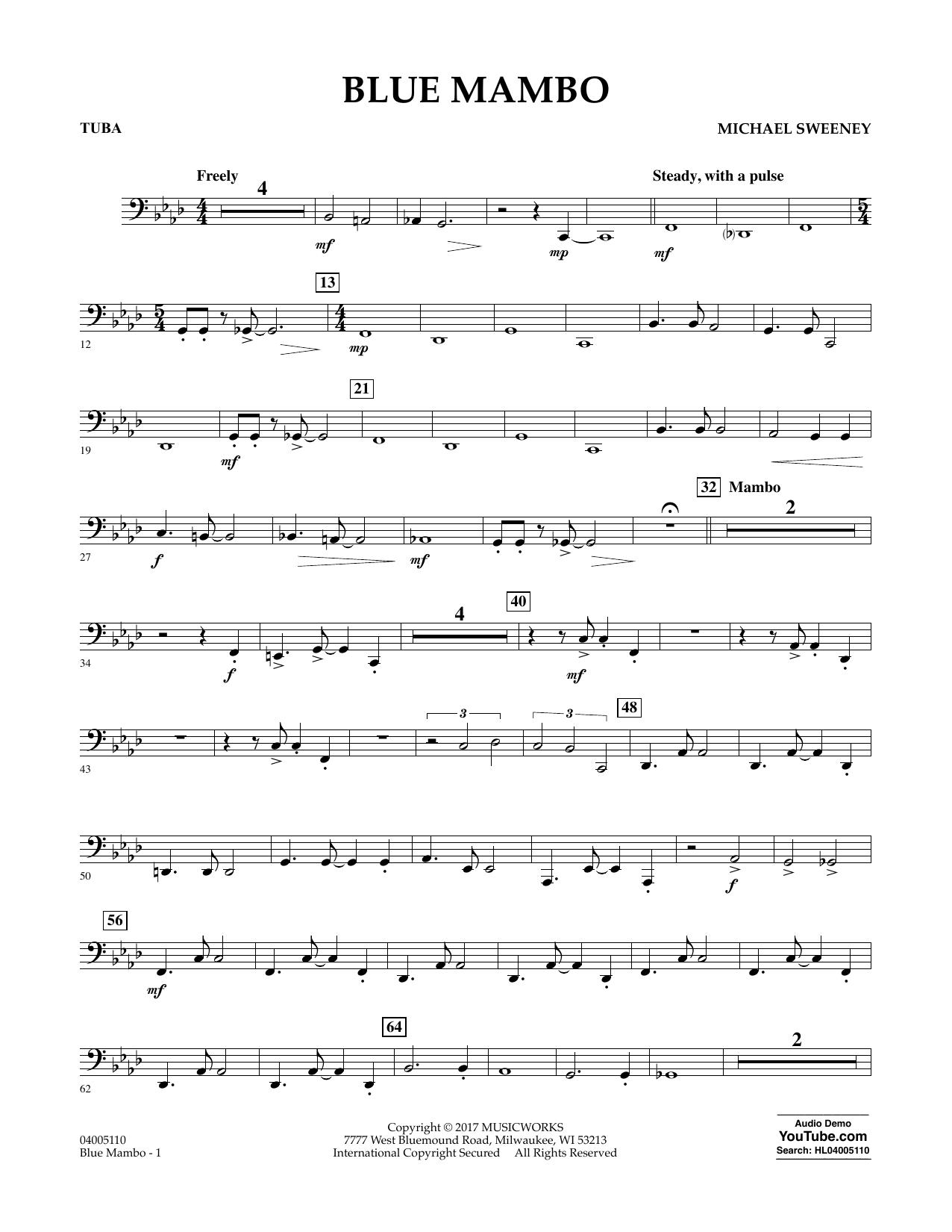Blue Mambo - Tuba (Concert Band)