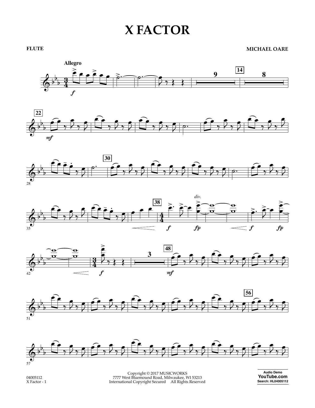 X Factor - Flute Sheet Music