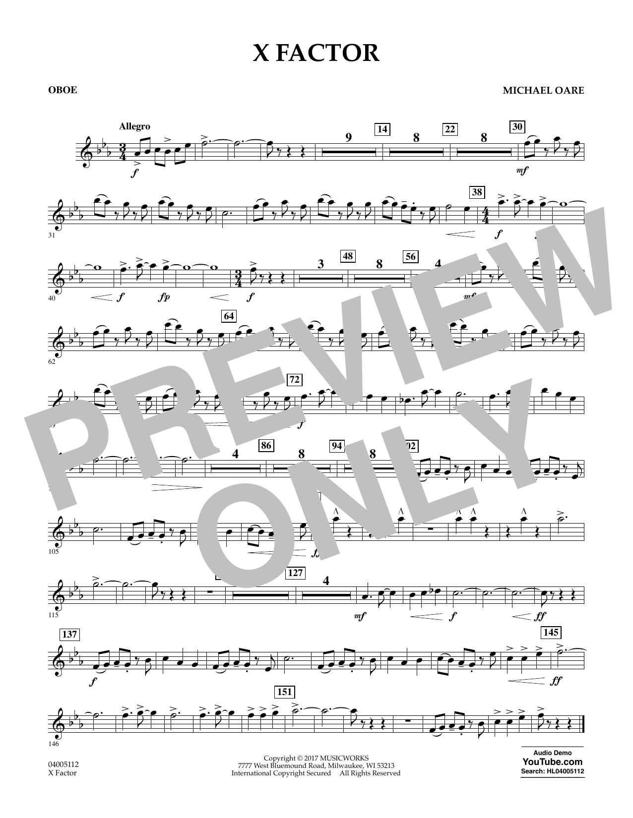 X Factor - Oboe Sheet Music