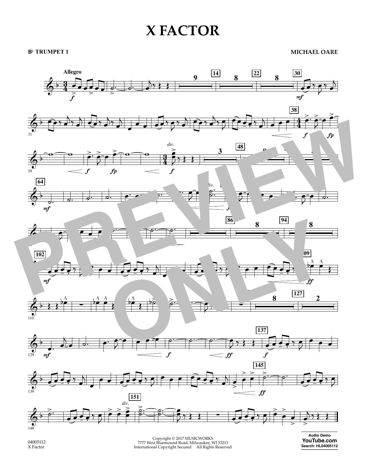 X Factor - Bb Trumpet 1 Sheet Music