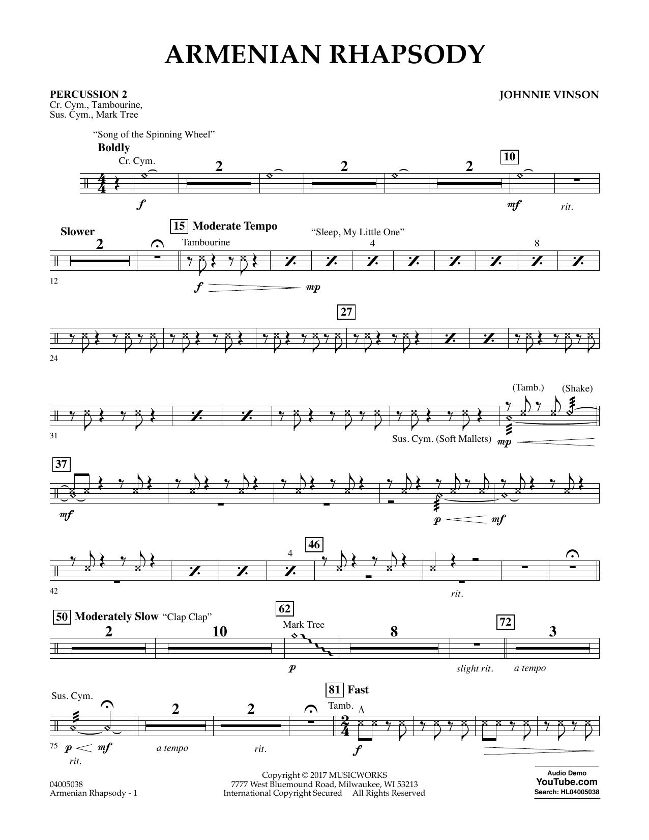 Armenian Rhapsody - Percussion 2 Sheet Music