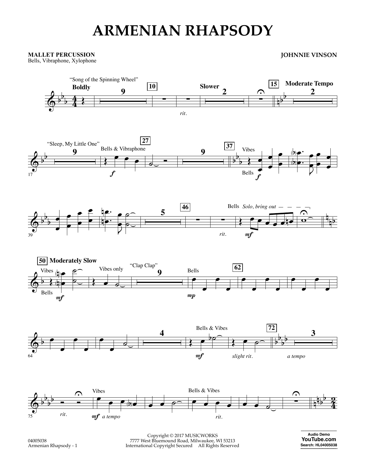 Armenian Rhapsody - Mallet Percussion Sheet Music