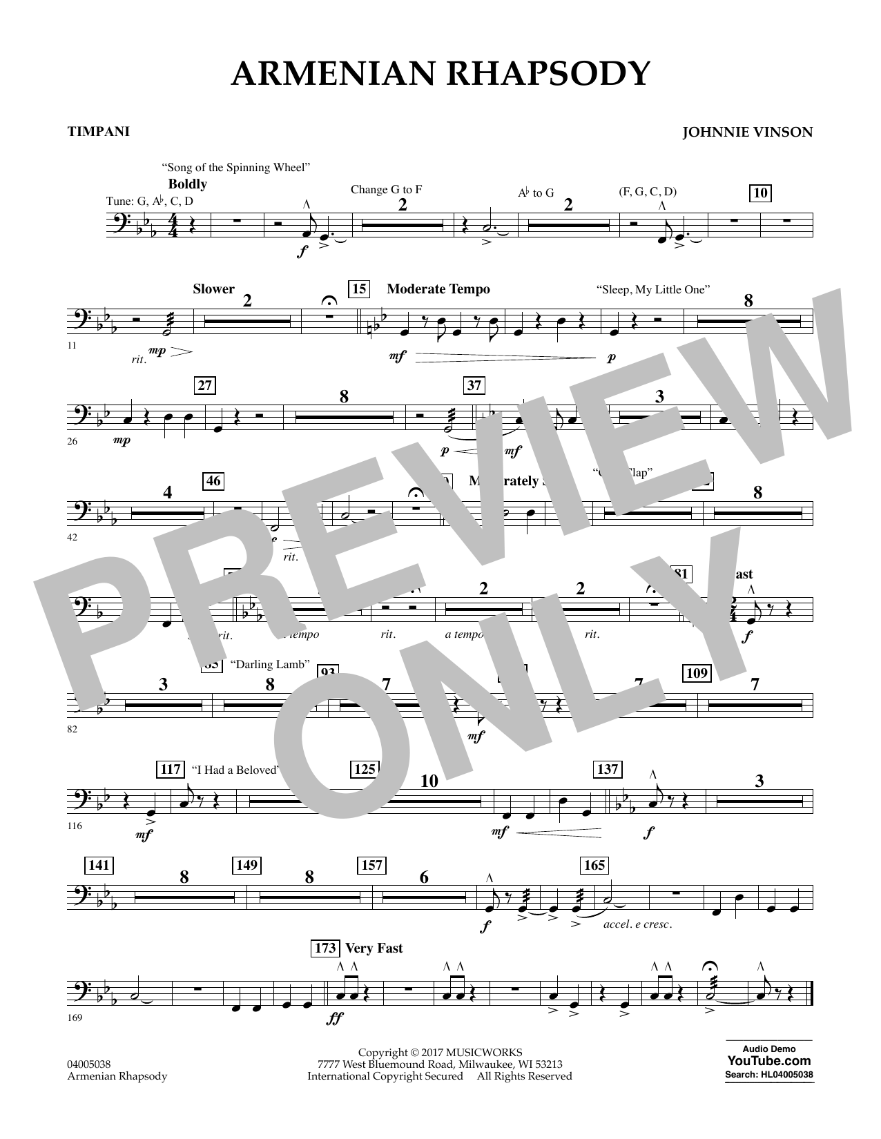 Armenian Rhapsody - Timpani Sheet Music