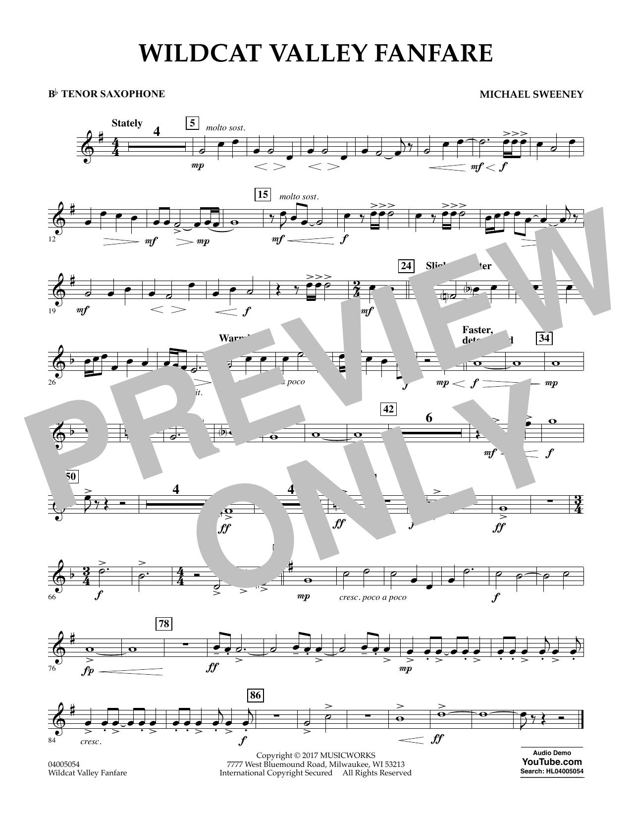 Wildcat Valley Fanfare - Bb Tenor Saxophone (Concert Band)